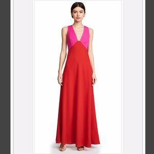 Jill Stuart Color-Block Two Tone Gown Dress